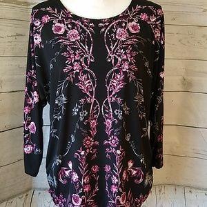 JM Collections floral print blouse